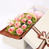 鲜花11枝粉玫瑰
