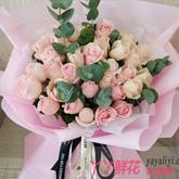 鲜花33枝混色玫瑰