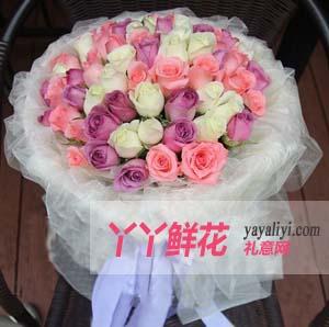 魔法公主-订花33支混色玫瑰