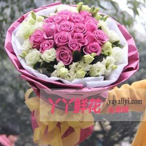 订购鲜花19支紫玫瑰