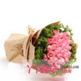 鮮花33支粉玫瑰