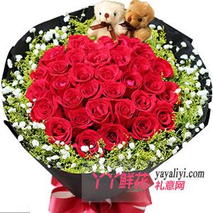 爱的记忆-33朵红玫瑰鲜花预定