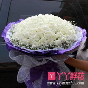 鲜花99朵白玫瑰