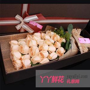 33朵香檳玫瑰禮盒