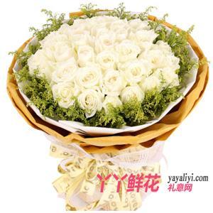 鮮花配送33枝白玫瑰