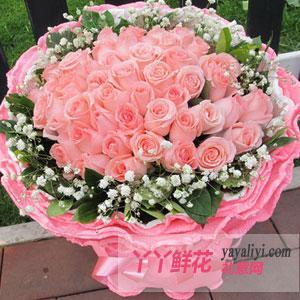 鲜花33朵粉玫瑰