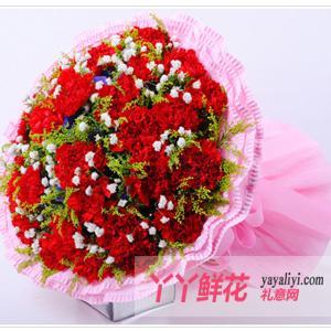 鲜花19枝红色康乃馨