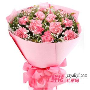 挚爱一生-11支粉色康乃馨