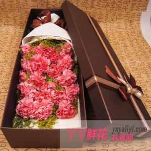 温馨-19朵粉色康乃馨礼盒
