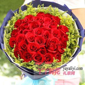 33朵紅玫瑰表白送花