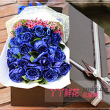 19朵蓝玫瑰相思梅/栀子叶礼盒
