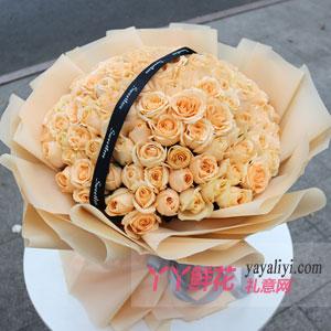 香槟玫瑰99朵什么涵义?