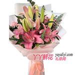 19朵粉色香水百合(好時光)