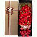 33朵紅玫瑰搭配黃鶯禮盒
